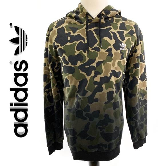 sports shoes 961f2 3b1e4 Adidas Originals Mens Camo Hoodie Pullover Sweater NWT